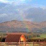 Rainbow over the pod pairc