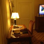 Writing desk in sitting area suite 1894