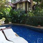 Zen-like pool area