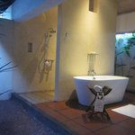 The lovely outdoor bathroom