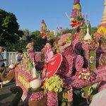 Flower festival float