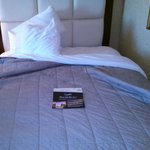 The bed w/Proof of stay