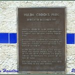 The plaque of Hilda Crook- Park named for this great lady.