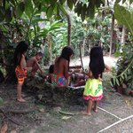 Children at the Indian Village