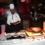 Le chef vous offre une fesse de boeuf (buffet)