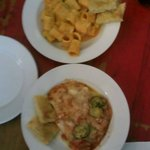 Rigatoni de calabaza y brócoli y Lasaña