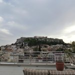 The Acropolis from the roof terrace.