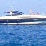 La barca vista dal gommoncino