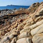 trekking along the coast: a sight of Capo Testa form south