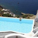 Infinity pool overlooking the Aegean Sea