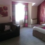 our superior room .. a double bed, single bed and a sofa bed!
