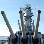 From the deck, Battleship Wisconsin
