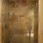 Our 2-person shower with individual controls!  KING SPA room only
