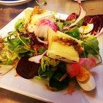 salade de brie farci aux fruits secs