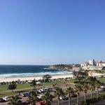 View from balcony of Bondi beach.