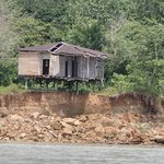 House along the Napo River that will be washed away with the next rainy season