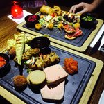 Turf and Earth sharing platters
