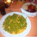 Green pasta..