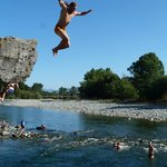 A peaceful swimming hole, dare to jump!