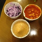 Cabbage, beans and sauce