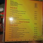 more menu items with prices