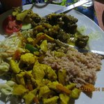 Curried Goat and Chicken Dinner