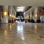 The spacious lobby