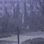vista do quarto durante a neve