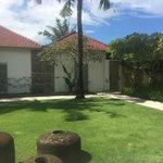 Courtyard outside the villas