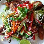 Pork Bely and Vietnamese salad with nuoc cham dressing