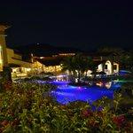 Pool and Bar at night