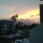 Looking into the resort from lanai