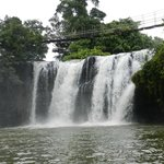 Mena creek waterfall next to Paronella Park