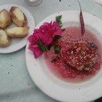 lomo en salsa de arándano con tapioca mes contra el cáncer de mama