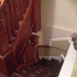 Tight narrow stairs