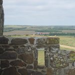 view from the top of the castle