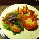 Our delicous shrimp dinner.