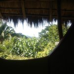 View From Turquoise Casita Bathroom