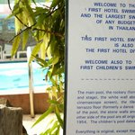 The first hotel pool in Thailand