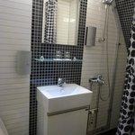 The bathroom -VERY tiny!