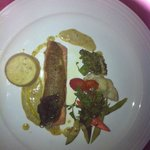 Roasted Salmon with Pistachio Butter & Sauteed Vege