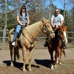 Before the trail ride began