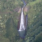 view from the chopper of Jurassic falls