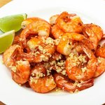 Garlic prawns - absolutely scrumptious!