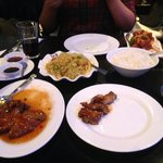 Duck in Plum Sauce; Singapore Noodles; Boiled Rice & Sweet and Sour Chicken - Main