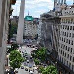 Obelisco visto da janela do hotel
