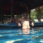 my hubby at the swim up bar