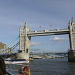 Passing under Tower Bridge from the River Cruise