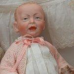 Strange little man doll at the Bennington Museum