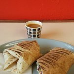 Wrap with a complimentary taster of spicy lentil soup.